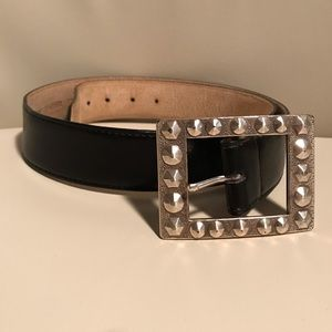 Nine West Black Leather Belt